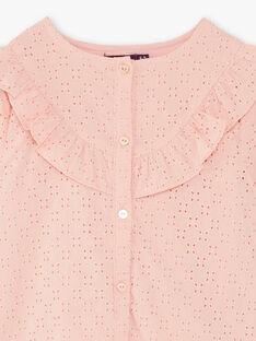 Camicia rosa bambina ZACHETTE / 21E2PF71CHED327