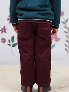 Pantaloni rossi bambino BEXOTAGE / 21H3PG91PANF511
