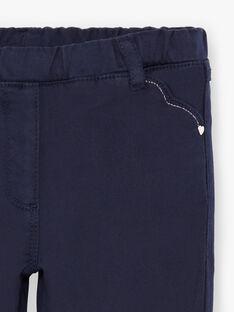 Pantaloni navy bambina BROSAETTE1 / 21H2PFB3PANC214