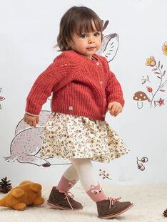 Cardigan rosa antico neonata BAIRIS / 21H1BFJ1CARD332