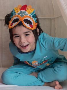 Pigiama fantasia turchese con pochette e maschera bambino ZIPIMAGE2 / 21E5PGF1PYTC216