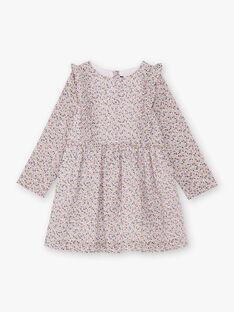 Abito rosa e bianco stampa a fiori bambina BEROETTE / 21H2PF21ROB001