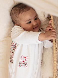 Tutina e berretto in velluto ecrù neonata BEBETTY / 21H5BF63GRE001