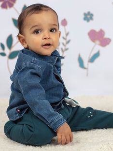Camicia in jeans blu neonato BAJOSUE / 21H1BG91CHMP269