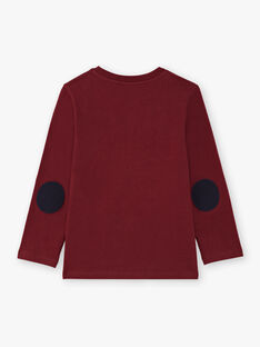 T-shirt bordeaux bambino BERNAGE / 21H3PG91TMLF511
