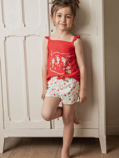 Pigiama rosso e bianco bambina ZEFRUETTE / 21E5PF21PYJ505
