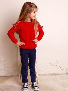 Pantaloni blu orizzonte bambina ZEPATETTE 2 / 21E2PFB1PAN216
