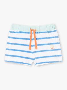 Completo da spiaggia blu e arancione canottiera e shorts. ZUAPIEUVR / 21E1BGQ1ENS702