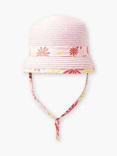 Cappello di paglia rosa neonata TYGWEN / 20E4BFZ1CHA312