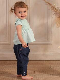 Pantaloni blu scuro in denim ZACAMILLE / 21E1BFI1JEAK005