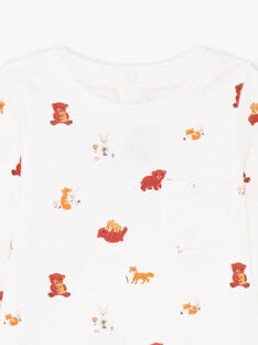 Body ecrù stampa animali neonato BALUCAS / 21H1BGJ1BOD001