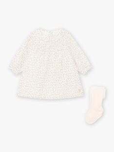 Completo abito con stampa a fiori e collant nascita bambina BOLOLA / 21H0CFK3ENS001