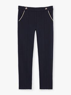 Pantaloni con pinces navy bambina BEMILETTE2 / 21H2PF51PAN070