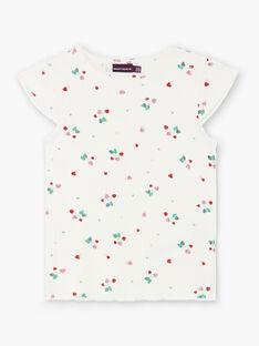 T-shirt bianca stampa fragola ZETIZETTE 2 / 21E2PFJ2TMC001