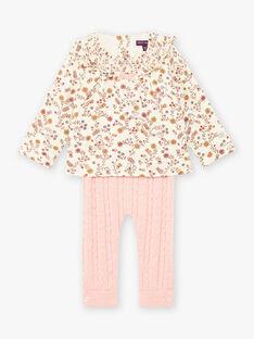Completo blusa con stampa e leggings in maglia neonata BAISTELLE / 21H1BFJ1ENS001