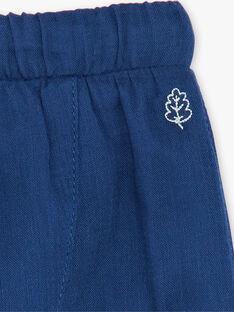 Pantaloni blu scuro in tubique ZAIKAR / 21E1BGI1PAN705