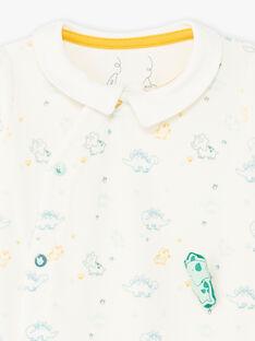 Tutina collo stile camicia stampa dinosauri neonato BECESAR / 21H5BG75GRE001