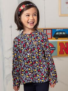 Camicia navy e rossa stampa a fiori bambina BIDIETTE / 21H2PF51CHE070
