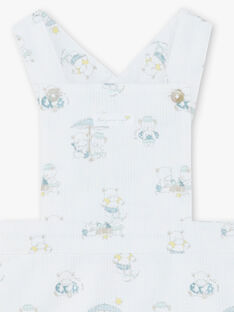 Salopette corta con stampa neonato ZOYANIS / 21E0CGY1SAL000