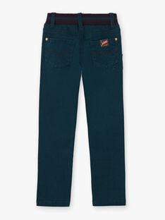 Pantaloni verdi smeraldo bambino BETROFAGE / 21H3PG93PAN608