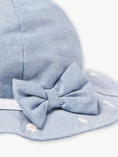 Cappello con ricami a fiori neonata ZAPATIENCE / 21E4BFT1CHA721