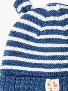 Muffole blu genziana e bianche neonato ZUBAJIR / 21E4BGM1BONC230