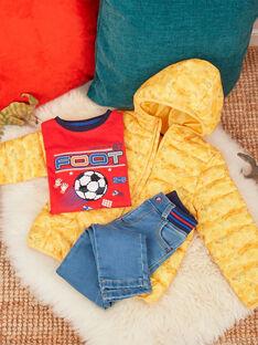 Piumino maniche lunghe giallo con stampa bambino venduto con custodia TURIAGE / 20E3PGT2DTVB104