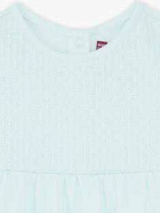 T-shirt verde acqua in jersey e popeline ZACAROLE / 21E1BFI1TMC629