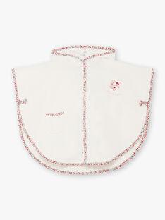 Mantellina da bagno ecrù e rosa neonata BEBRUNE / 21H5BF61CDB001
