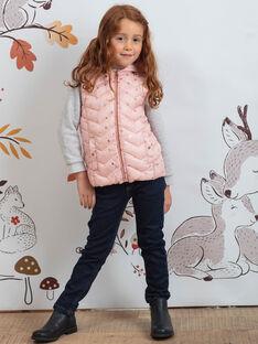 Piumino matelassé rosa chiaro con stampa e zaino coniglio bambina BRODOUNETTE 1 / 21H2PFG1DTV321