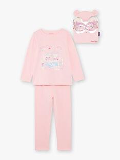 Pigiama fantasia rosa con pochette e maschera bambina ZEPYGETTE 3 / 21E5PFF1PYTD326