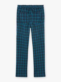 Pantaloni grigi a quadri bambina BROMILETTE1 / 21H2PFB4PANJ908