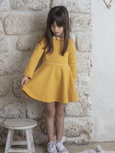 Abito giallo senape bambina ZLOMETTE3 / 21E2PFK6ROBB106
