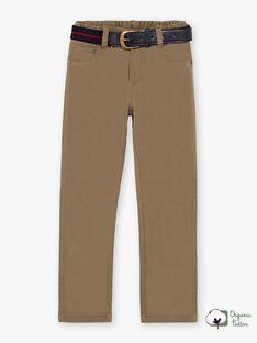 Pantaloni straight e cintura beige scuro bambino BUXIGAGE3 / 21H3PGB7PAN604