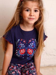 T-shirt maniche corte blu orizzonte bambino ZOTISETTE / 21E2PFB1TMC216