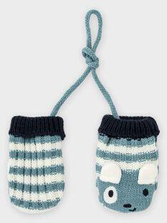 Muffole blu-grigio a righe neonato TACHERIF / 20E4BGC1GAN001