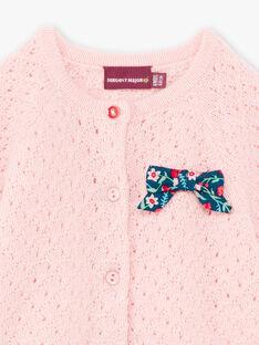 Cardigan rosa neonata BAGIANE / 21H1BF91CARD329