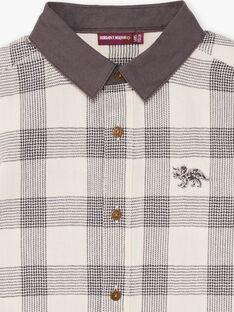 Camicia maniche lunghe a quadri bicolore bambino BASHIRTAGE / 21H3PG21CHM001