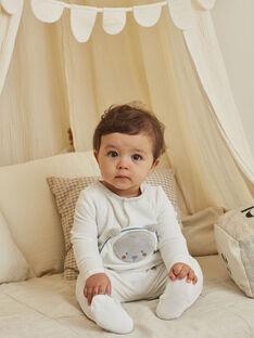 Tutina in velluto con motivo orsetto e berretto nascita bambino BOCKE B / 21H0NGK1GRE001