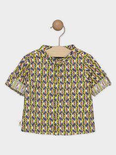 Camicia in twill neonato con stampa etnica SAKARL / 19H1BG61CHM605