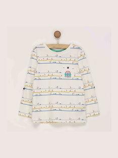 T-shirt maniche lunghe ecrù REDOUAGE / 19E3PGC1TML001