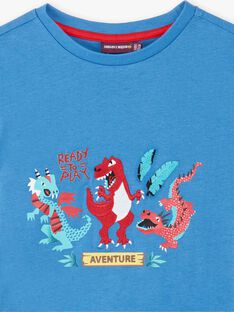 T-shirt blu stampa dinosauro ZADRISAGE / 21E3PGJ2TMCC206