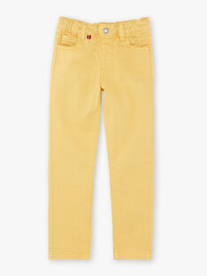 Pantaloni gialli bambino ZAZITAGE3 / 21E3PGK4PAN010