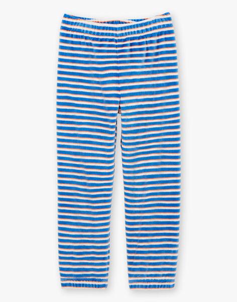 Pigiama t-shirt e pantaloni bianco e blu bambino BEVIKAGE / 21H5PG64PYJA011