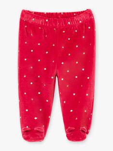 Set pigiama maniche lunghe rosa lampone con motivi animali neonata BEBAMBI / 21H5BF61PYJ308