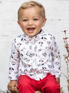 Camicia ecrù e nera stampa cane neonato BABLAISE / 21H1BG11CHM001