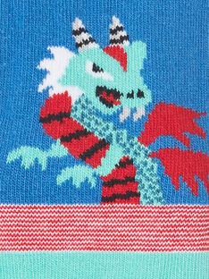 Calze blu e rosse drago ZAFRIAGE / 21E4PGJ1SOQG621