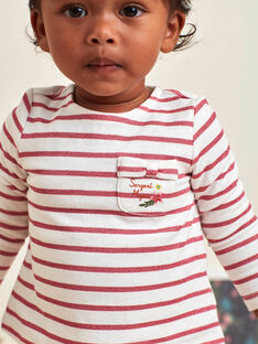 T-shirt a maniche lunghe a righe neonata BAMIRA / 21H1BFM1TEE001