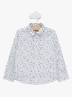 Camicia con stampa a fiori e papillon amovibile bambino TIFLORAGE / 20E3PGJ6CHM001