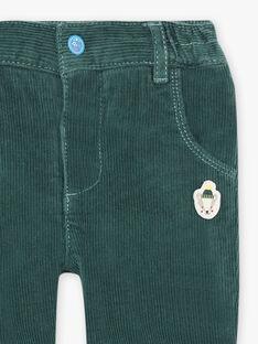 Pantaloni verde abete neonato BAPETER / 21H1BGM1PAN060